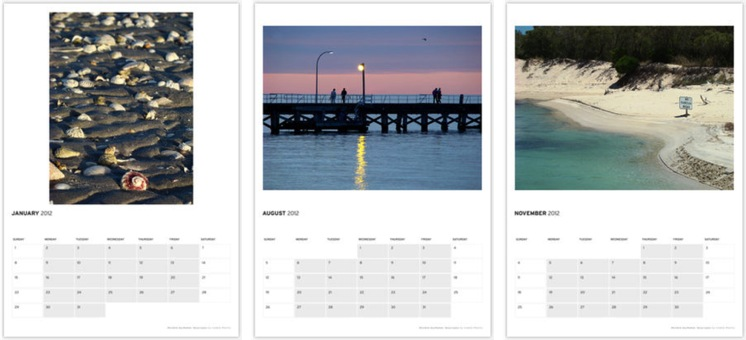 Click on the Image to see the full WA Seascape Calendar